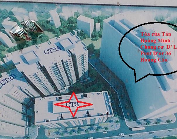 Ảnh chụp vị trí dự án ct3 hoàng cầu