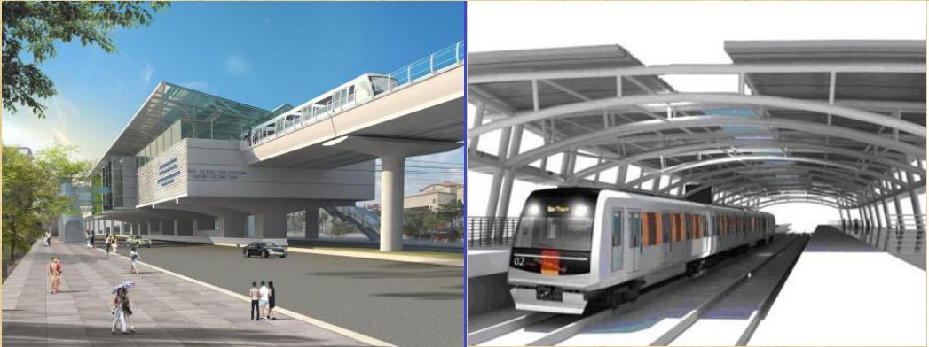 Ga tàu điện cao tốc nối Hà Đông - Cát Linh