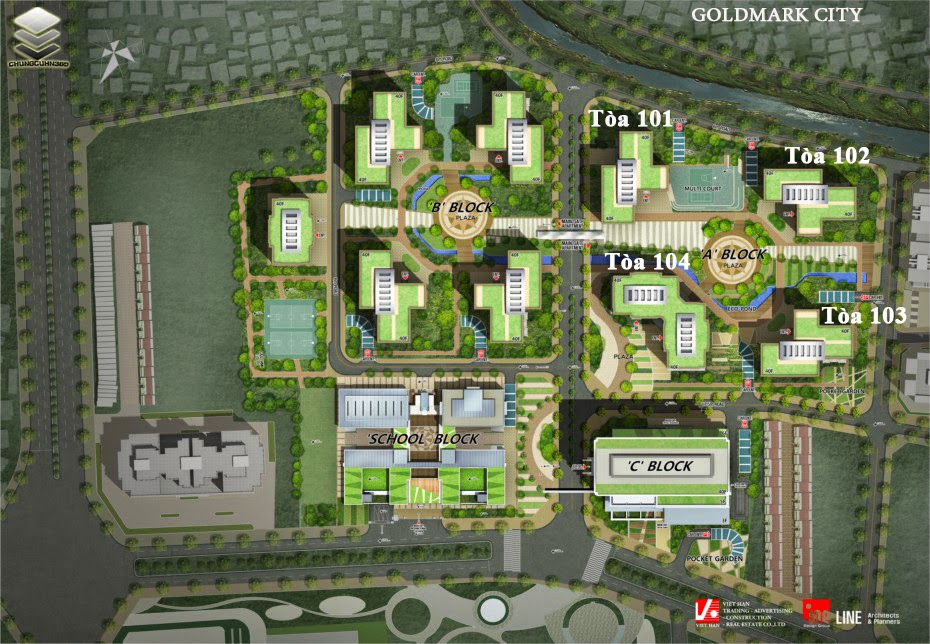Tổng quan các Block tại Goldmark City 136 Hồ Tùng Mậu