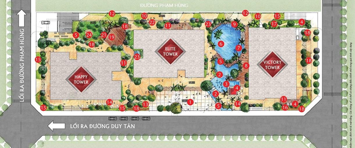 Bản đồ dự án chung cư paragon tower