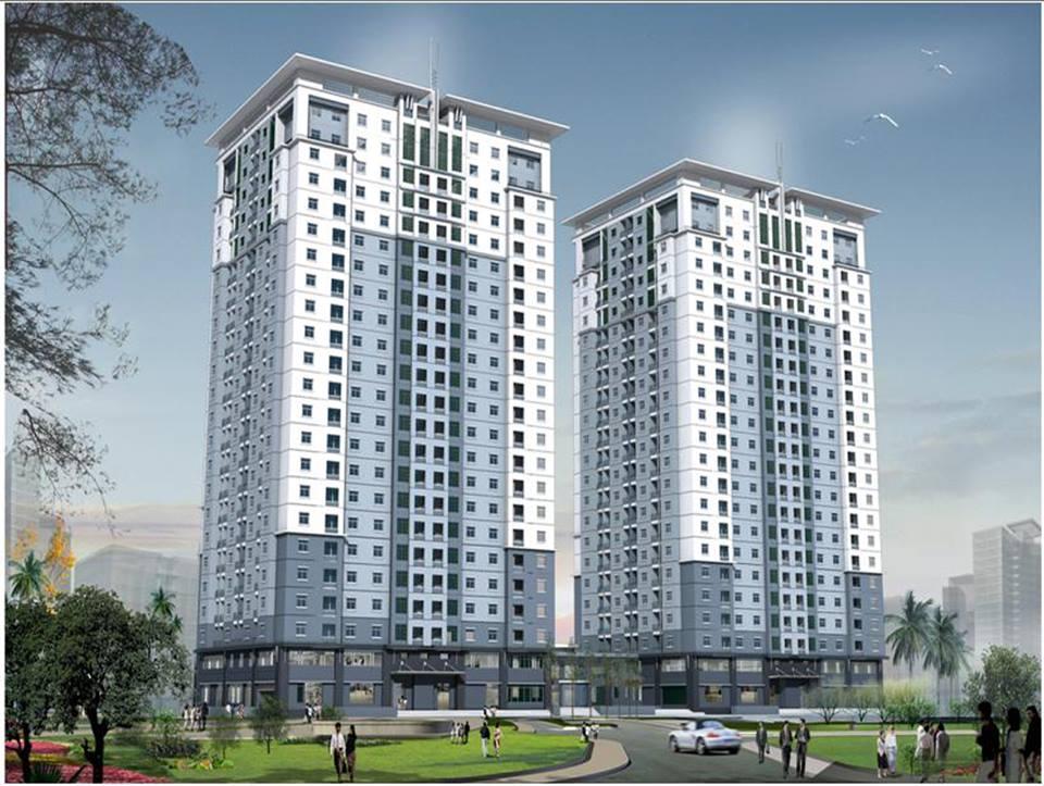 Phối cảnh tổng thể dự án tái định cư d17 Duy Tân