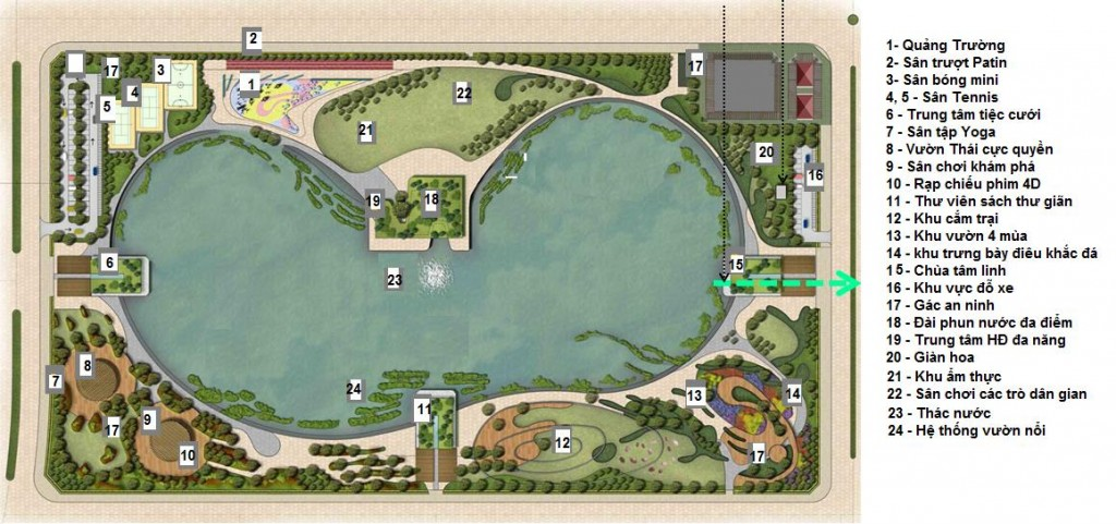 Công viên hồ điều hòa An Phú Shop Villa