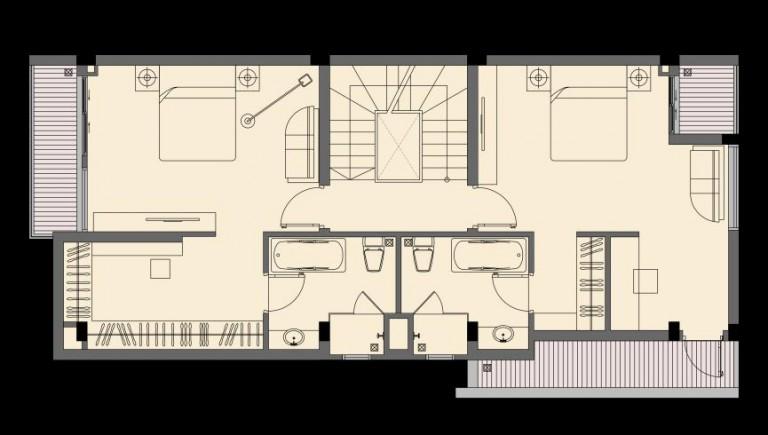 Tầng 3 biệt thự P1-4 An Phú Shop Villa