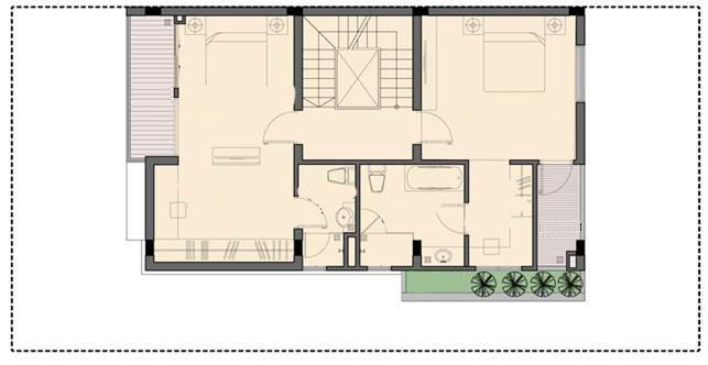 Tầng 3 biệt thự P1-2 An Phú Shop Villa