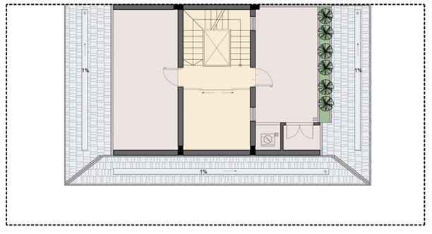 Tầng áp mái biệt thự P1-2 An Phú Shop Villa