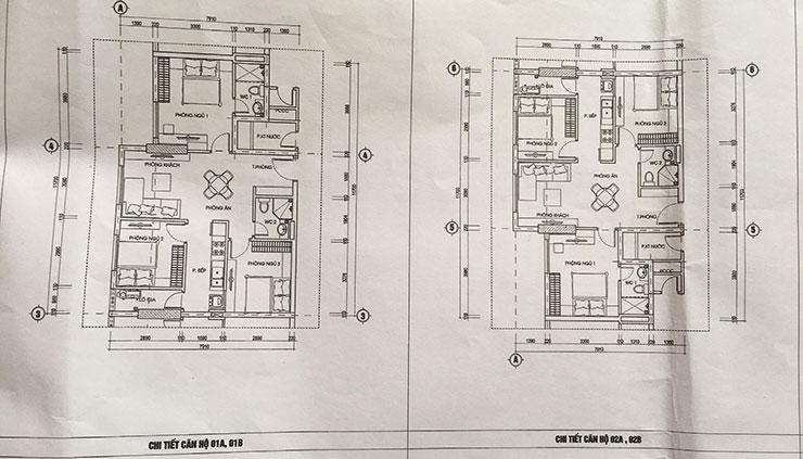 Căn hộ 01 – 02 dự án chung cư 987 Tam Trinh