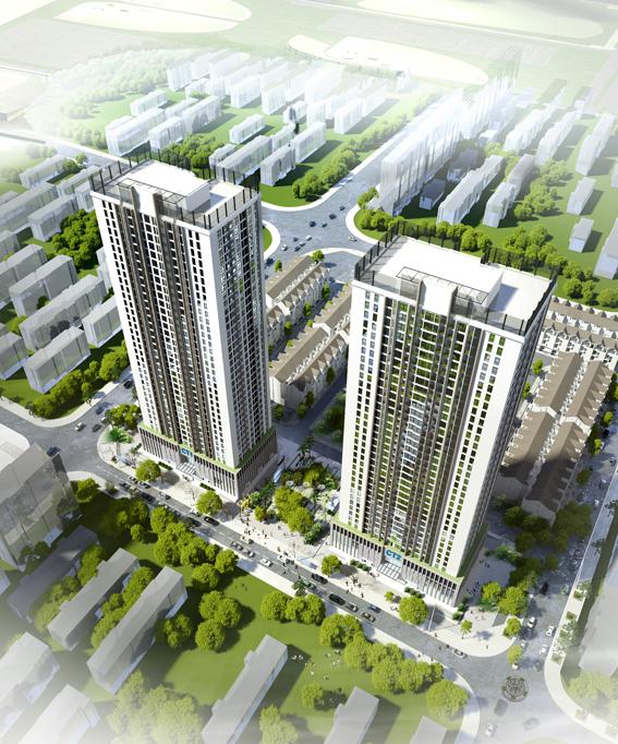 Phối cảnh chung cư A10 Nam Trung Yên