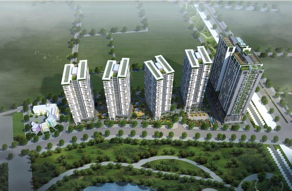 Phối cảnh tổng thể dự án chung cư bộ công an 43 Phạm Văn Đồng