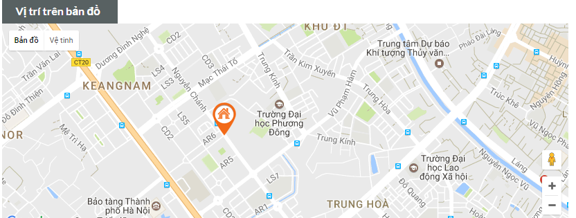 Vị trí dự án A7 Nam Trung Yên