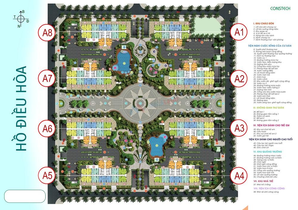 Mặt bằng tổng thể toàn khu AN BÌNH CITY - Thành Phố Giao Lưu - Phạm Văn Đồng