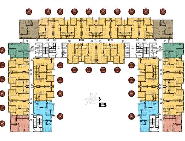 Mặt bằng thiết kế chung cư Athena Complex