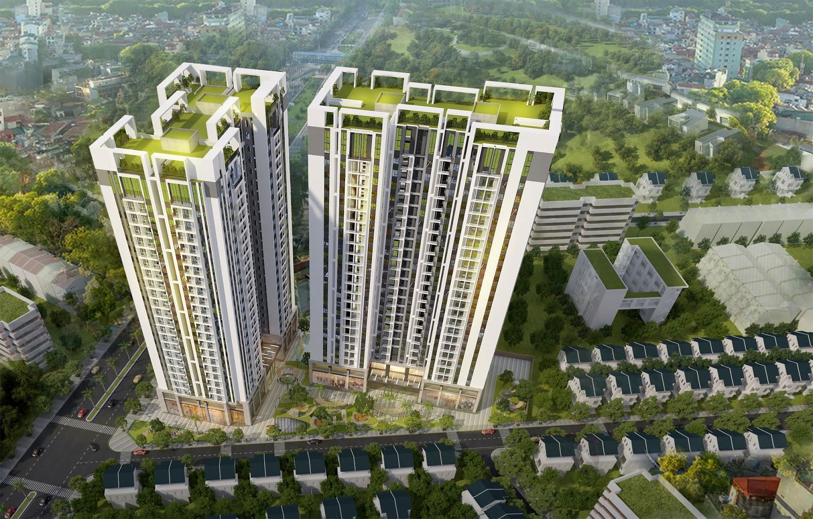 Phối cảnh chung cư Sky Central 176 Định Công