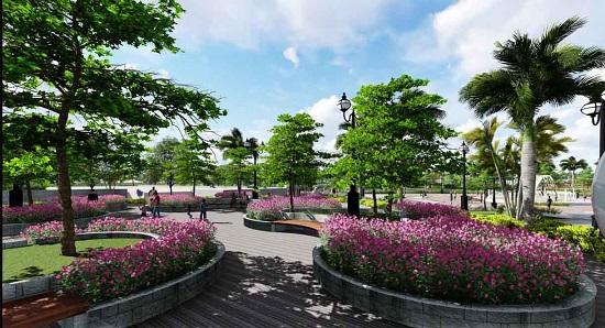 Khuôn viên cây xanh rộng lớn