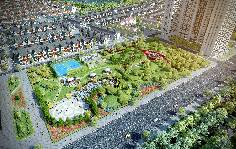 Cảnh quan xung quanh dự án An Vượng Villa
