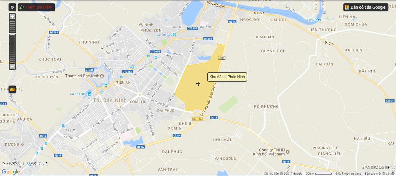 Vị trí dự án Phúc Ninh