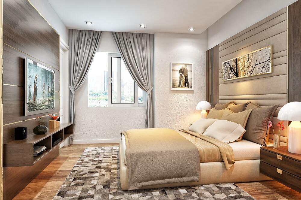 Thiết kế phòng ngủ chung cư golden park