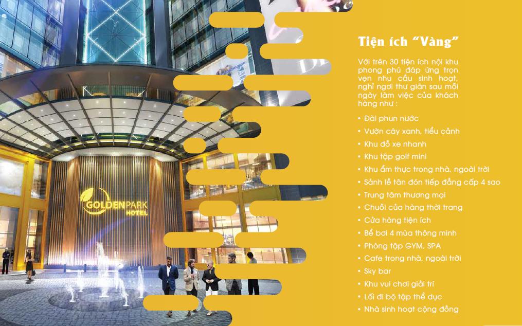 30 tiện ích vàng dự án Golden Park Tower