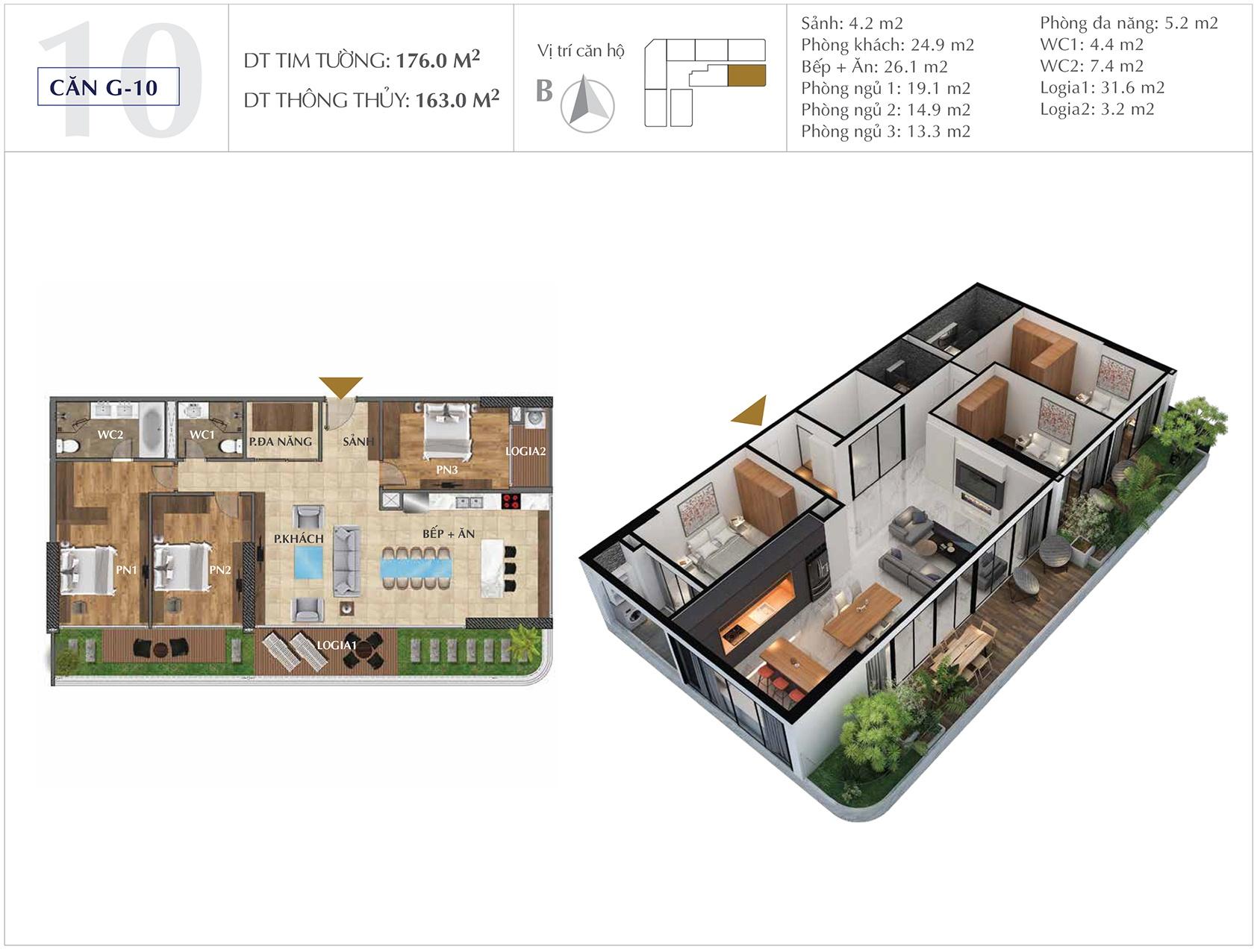 Thiết kế căn hộ G-10