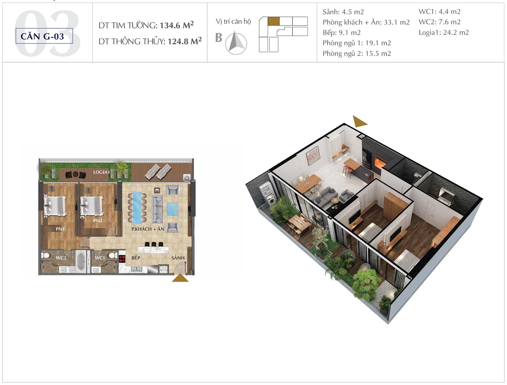 Thiết kế căn hộ G-03