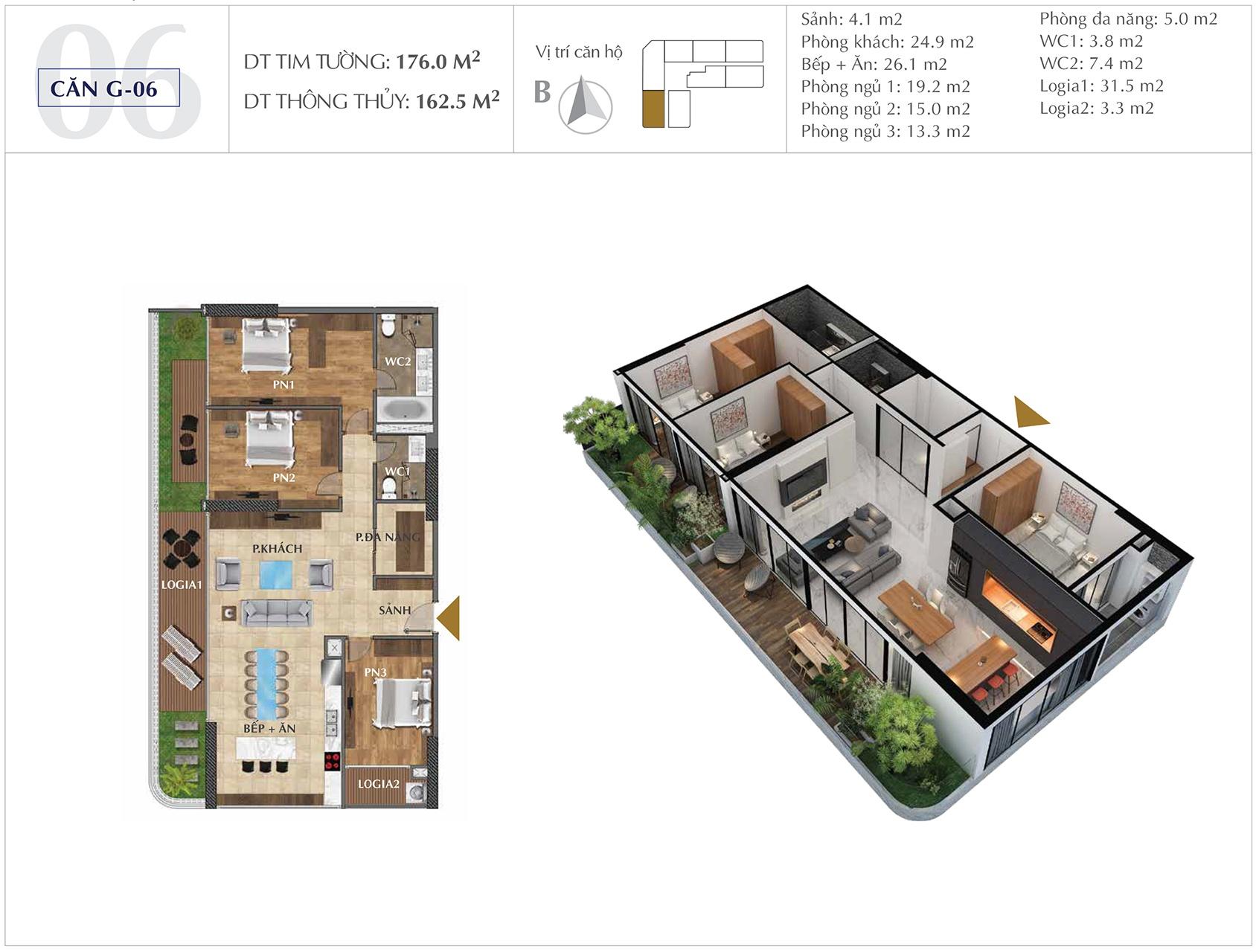 Thiết kế căn hộ G-06