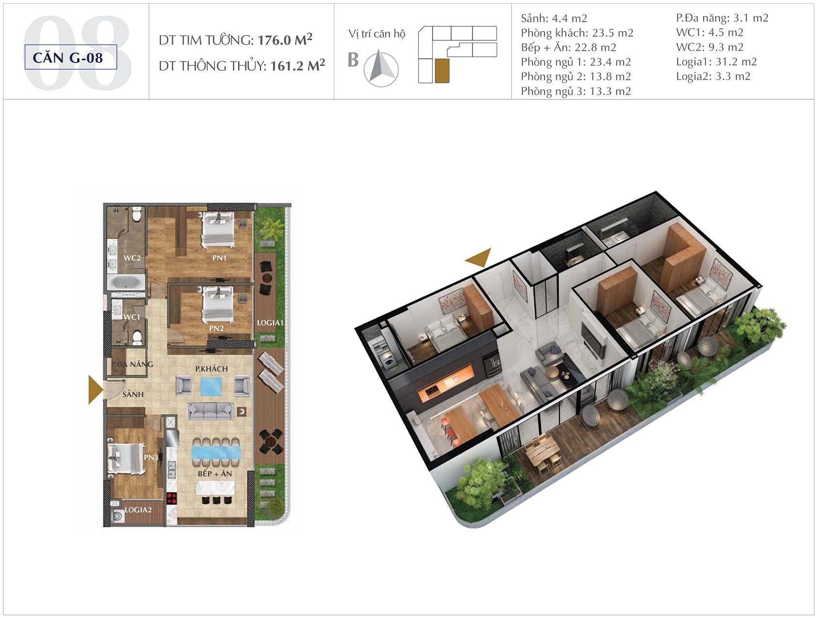 Thiết kế căn hộ G-08