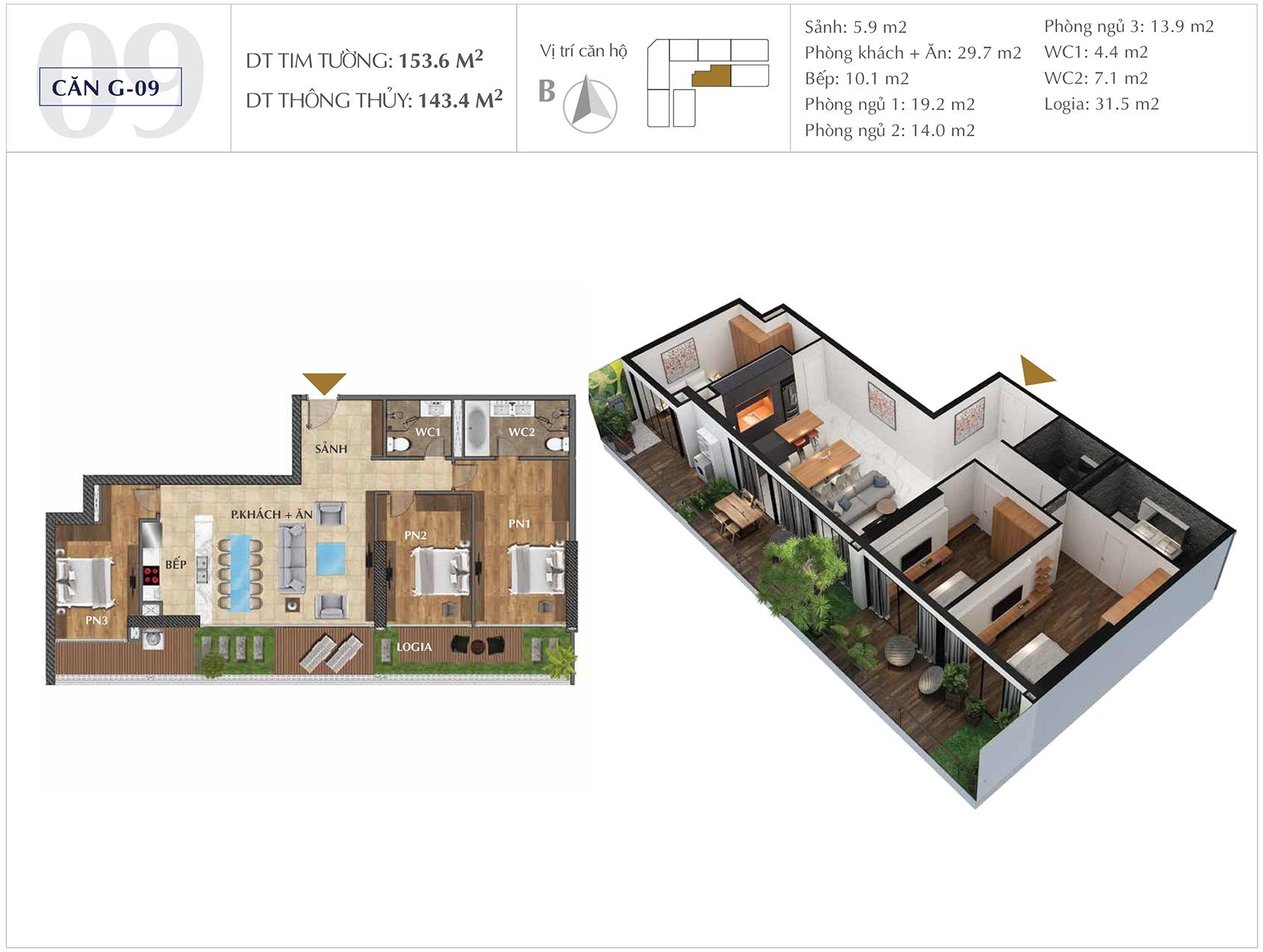 Thiết kế căn hộ G-09