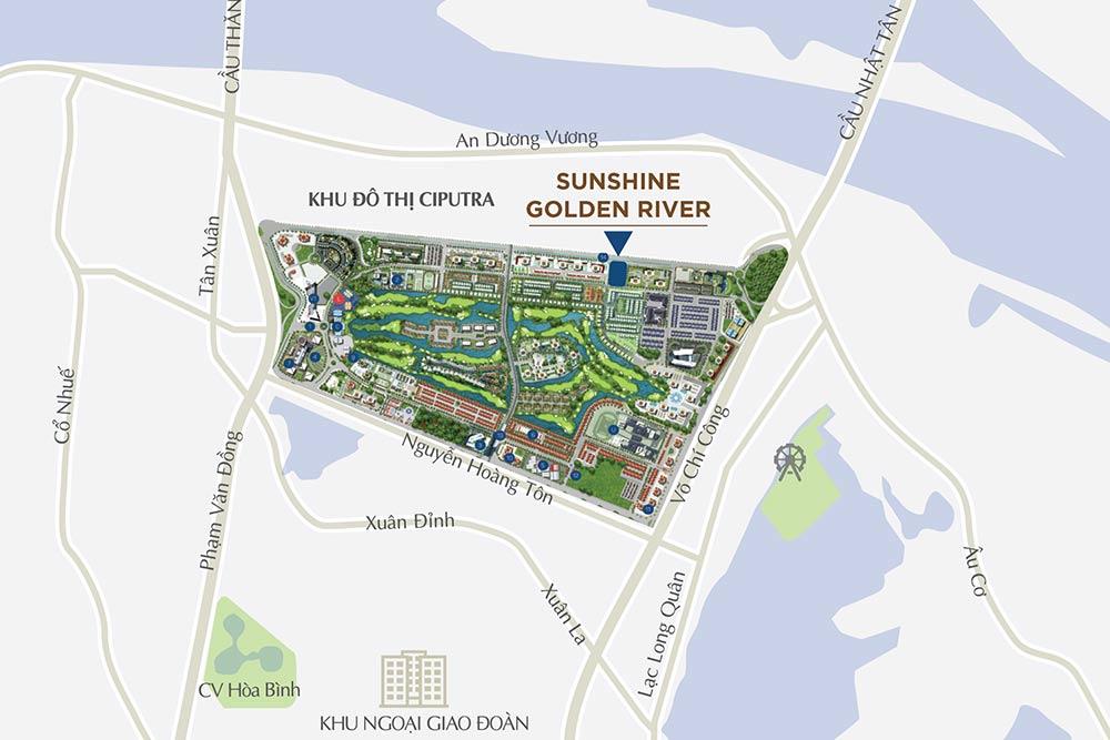 Vị trí chung cư Sunshine Golden River