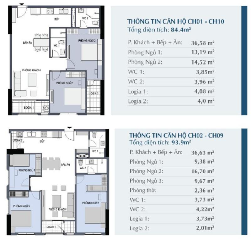 Thiết kế căn hộ 01 - 10 - 02 - 09 chung cư 27 Thái Thịnh - Le Capitole