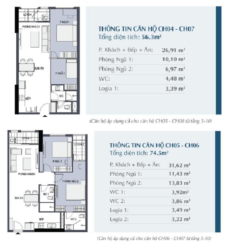 Thiết kế căn hộ 04 - 07 - 05 - 06 chung cư 27 Thái Thịnh - Le Capitole