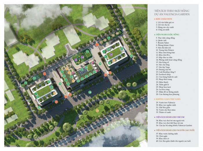 Hệ thống tiện ích dự án Chung cư Valencia Garden Việt Hưng