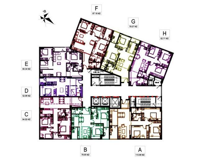 Thiết kế căn hộ tầng 3-17