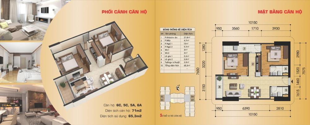 Thiết kế căn hộ 6C, 5C, 5A, 6A