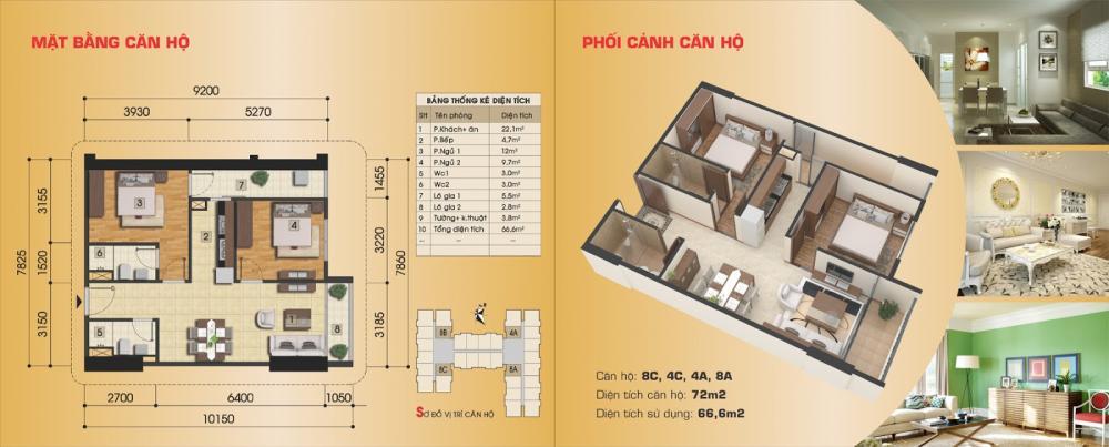 Thiết kế căn hộ 8C, 4C, 4A, 8A