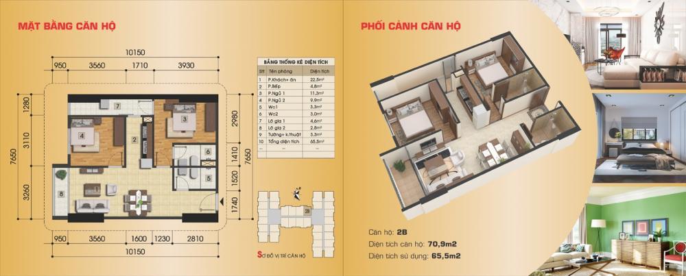 Thiết kế căn hộ 2B