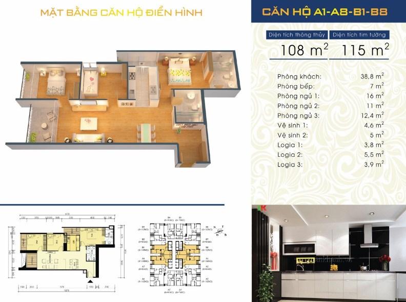 Thiết kế căn hộ A1 - A8 - B1 - B8