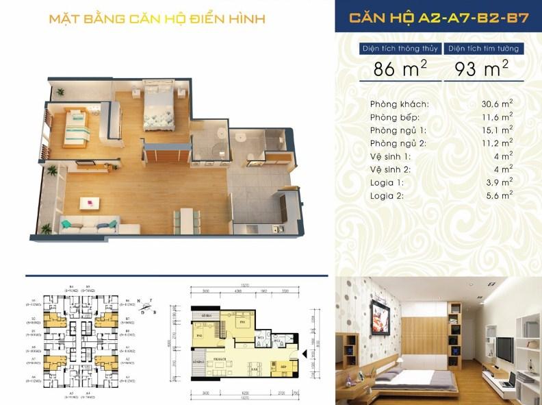 Thiết kế căn hộ A2 - A7 - B2 - B7