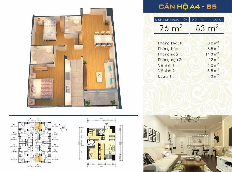 Thiết kế căn hộ A4 - B5