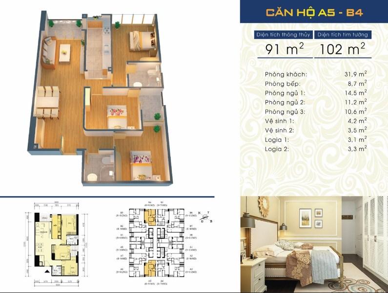 Thiết kế căn hộ A5 - B4