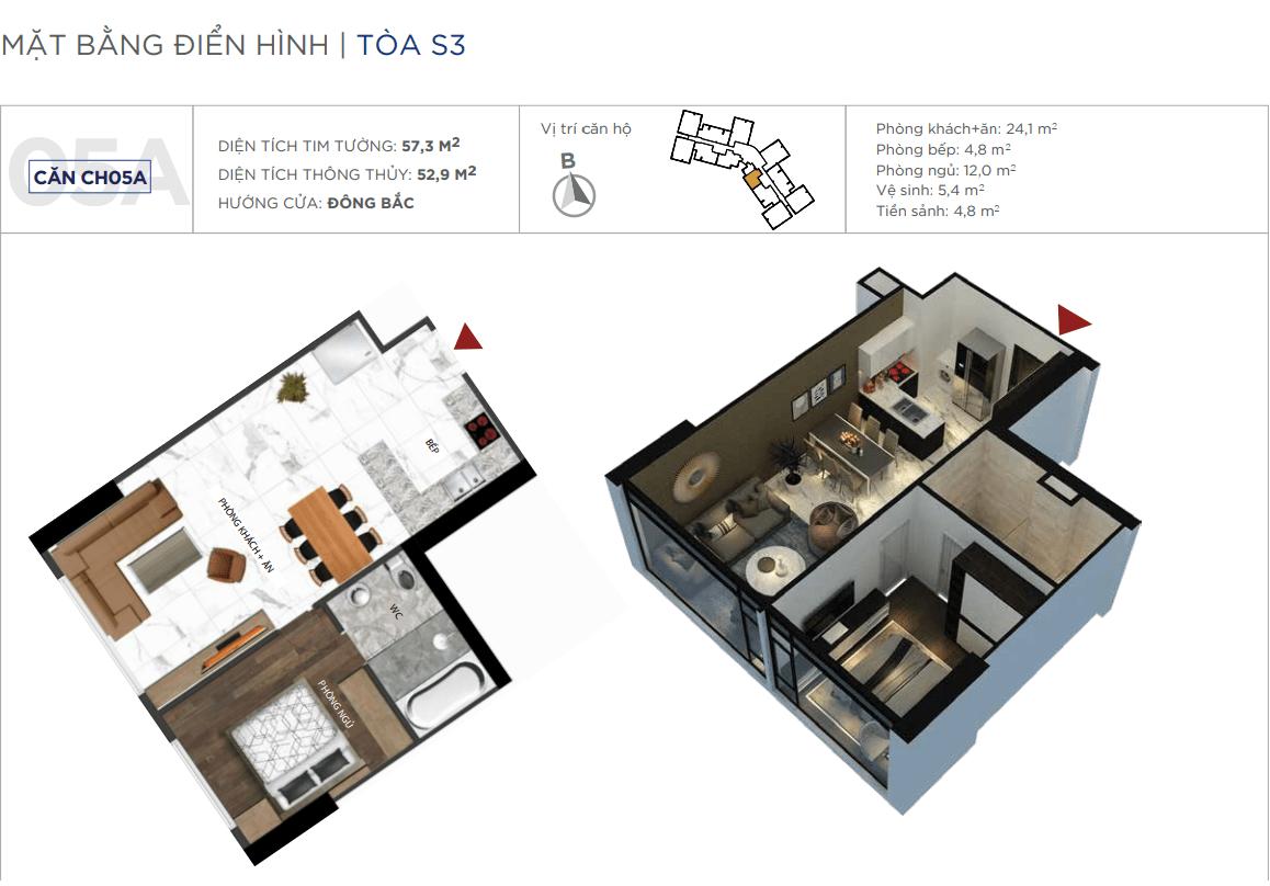 Thiết kế căn hộ 05A