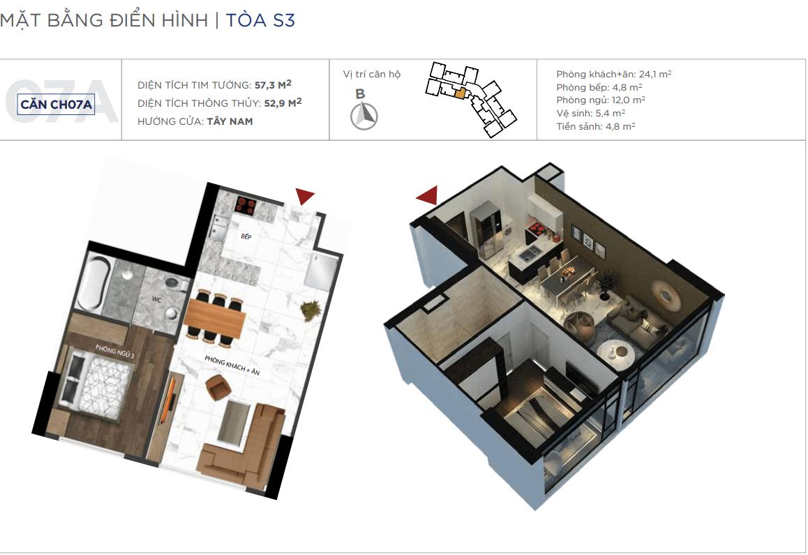 Thiết kế căn hộ 07A