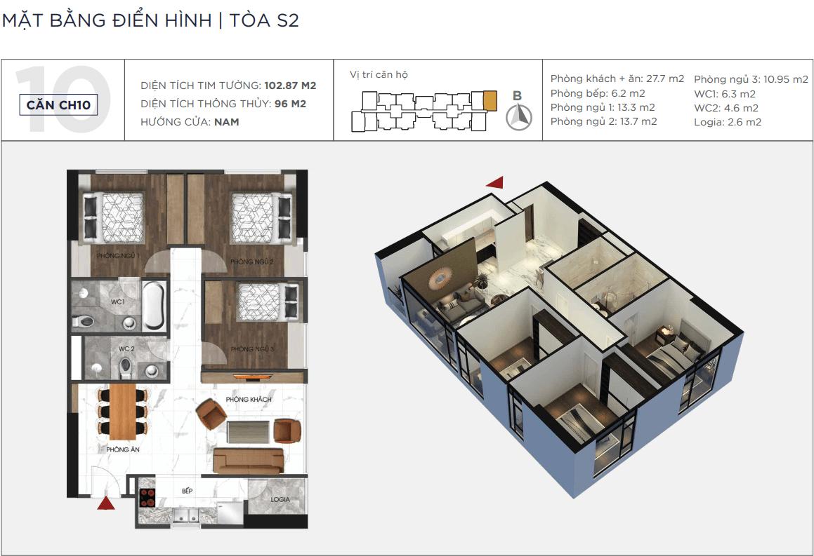 Thiết kế căn hộ 10