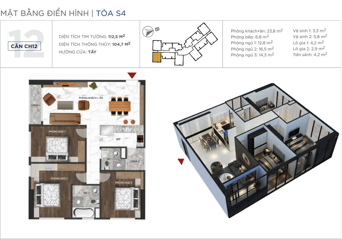 Thiết kế căn hộ 12