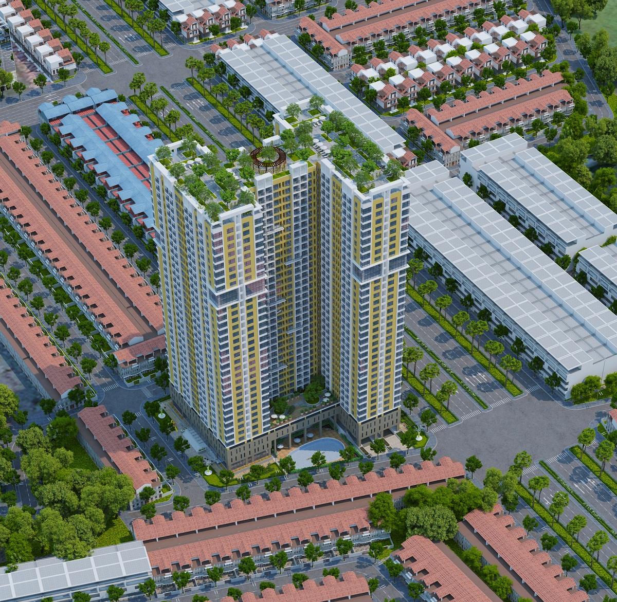 Phối cảnh dự án chung cư Gemek Premium