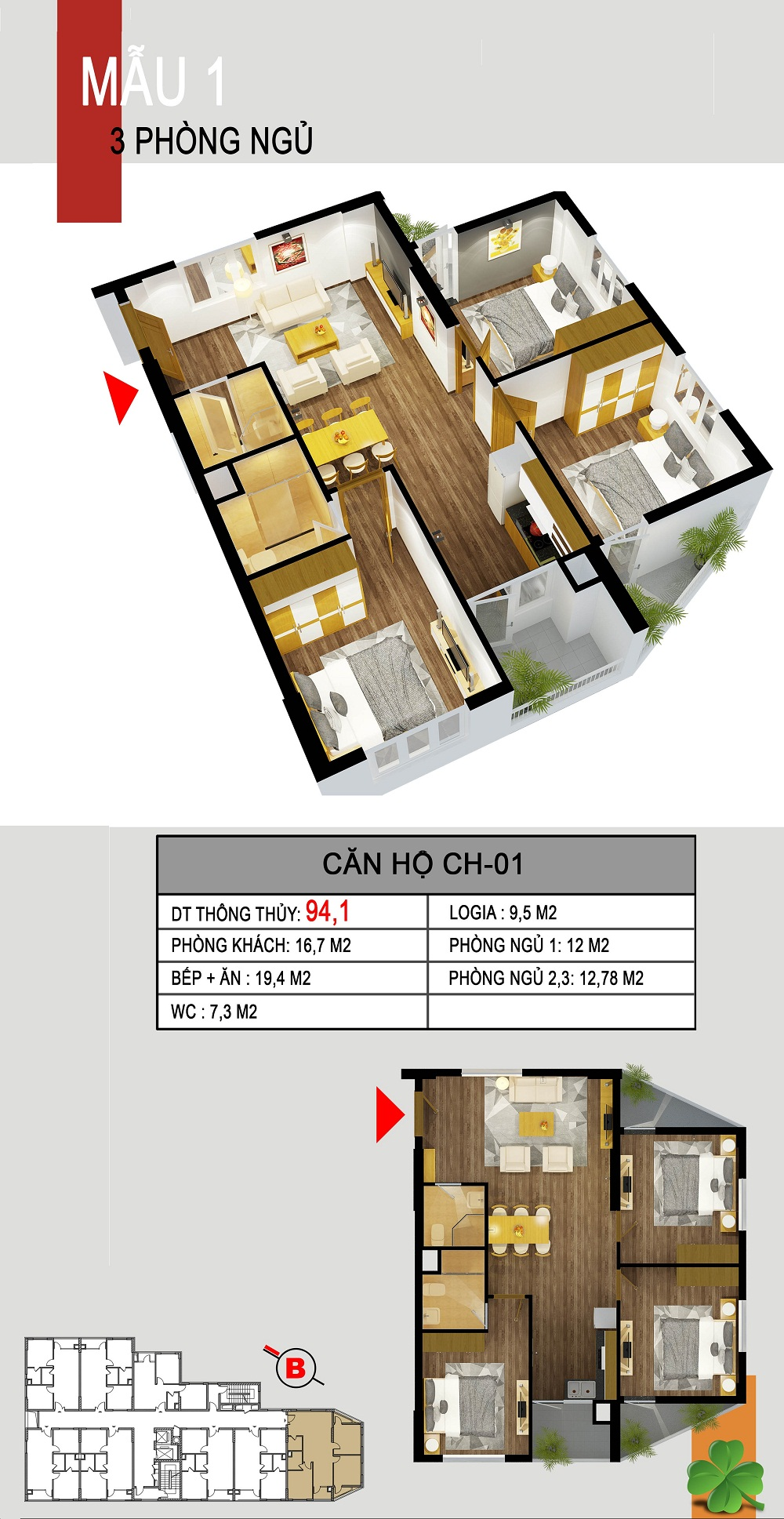 Thiết kế căn hộ CH-01 536a minh khai