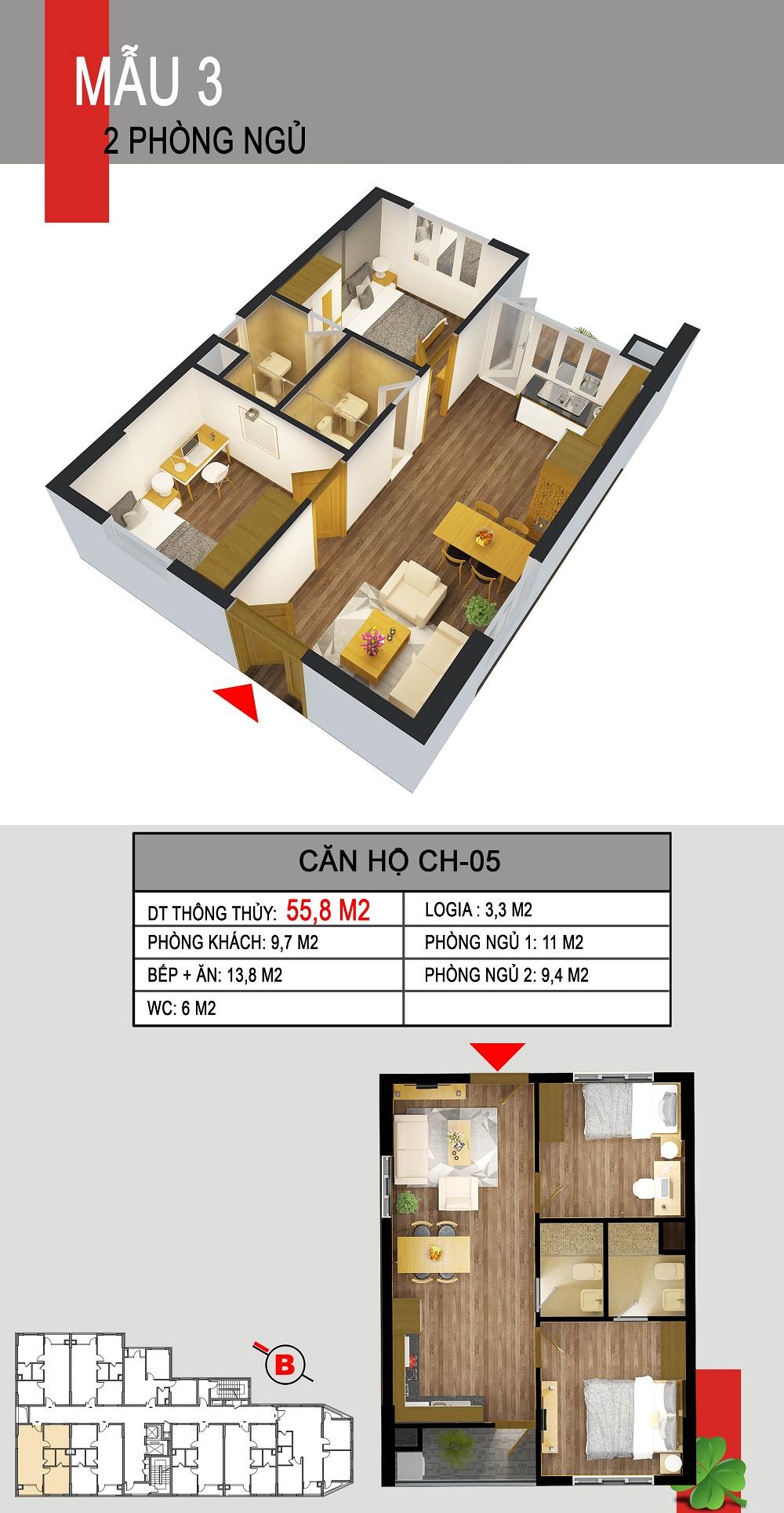 Thiết kế căn hộ CH-05 536a minh khai