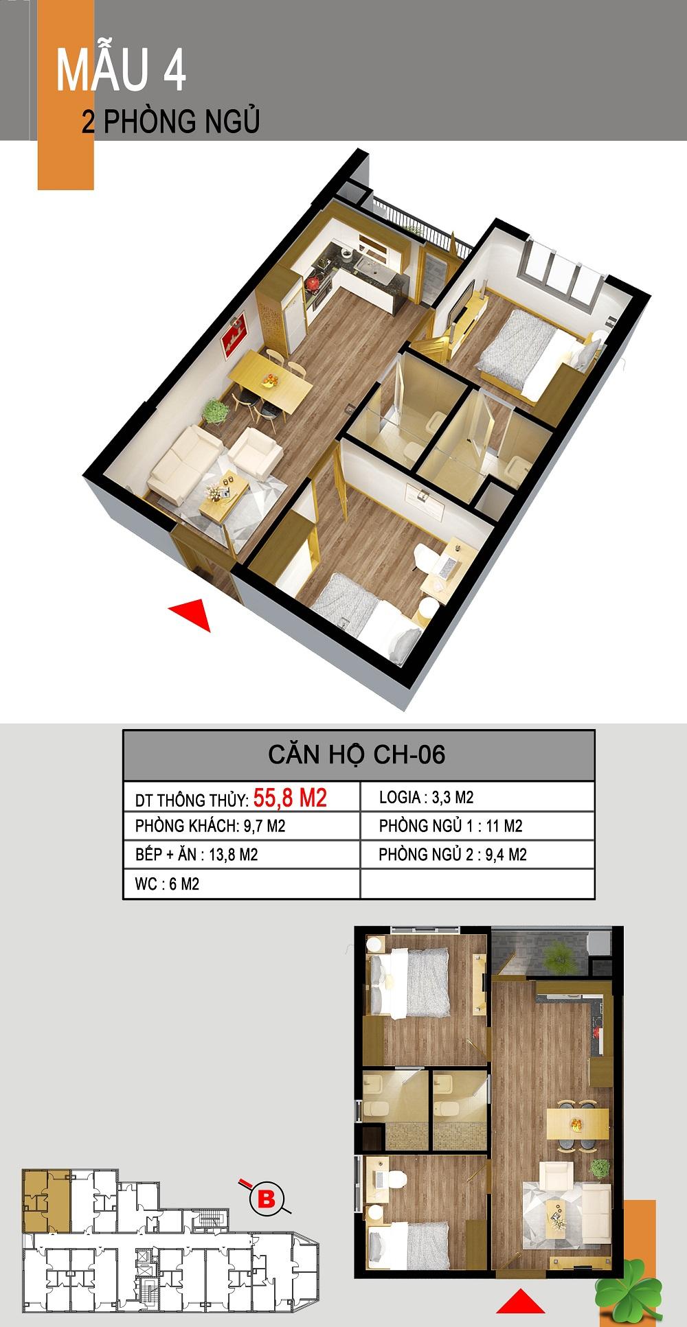 Thiết kế căn hộ CH-06 536a minh khai