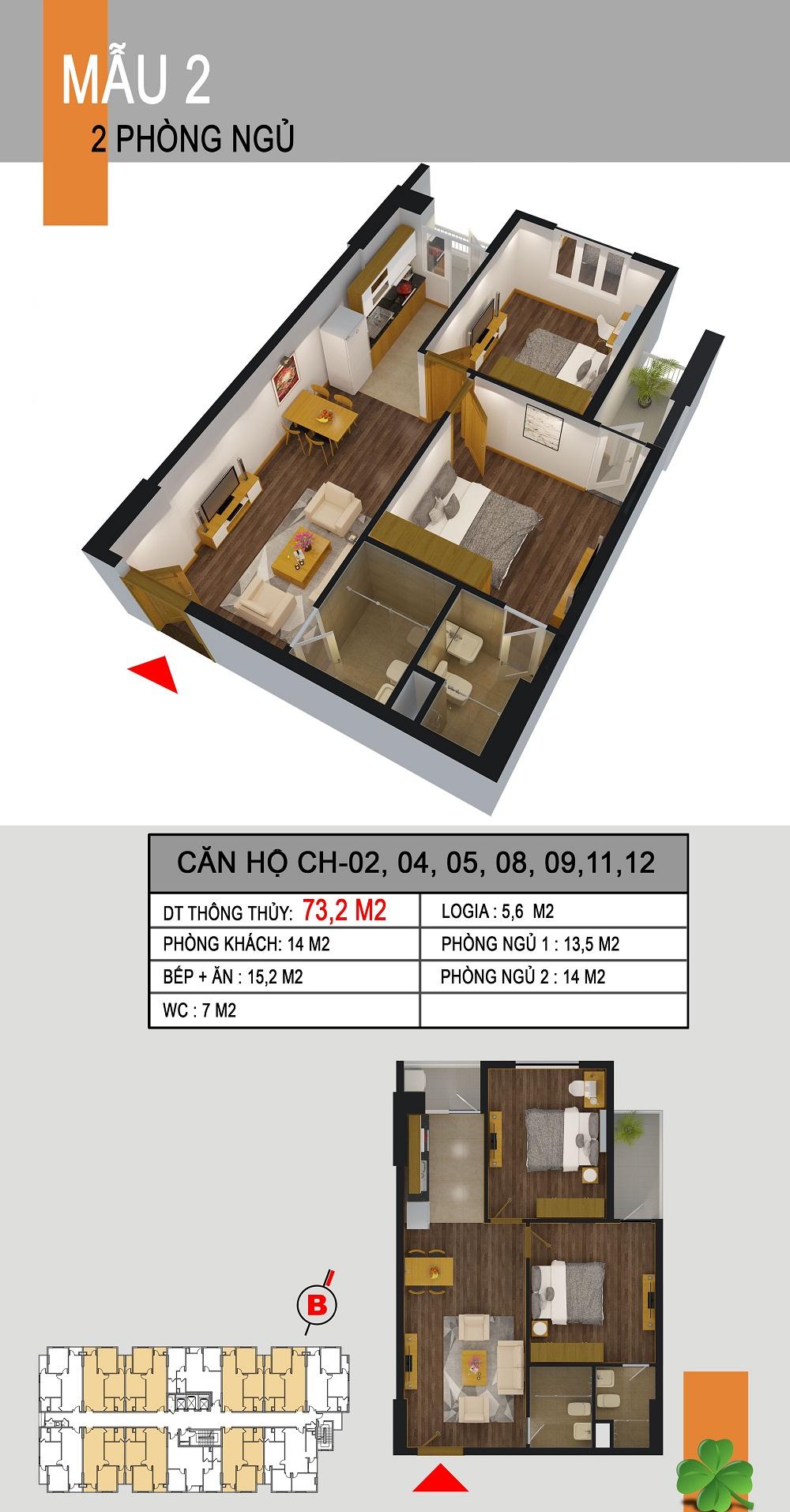 Thiết kế căn hộ CH-02,04,05,08,09,11,12 536a minh khai
