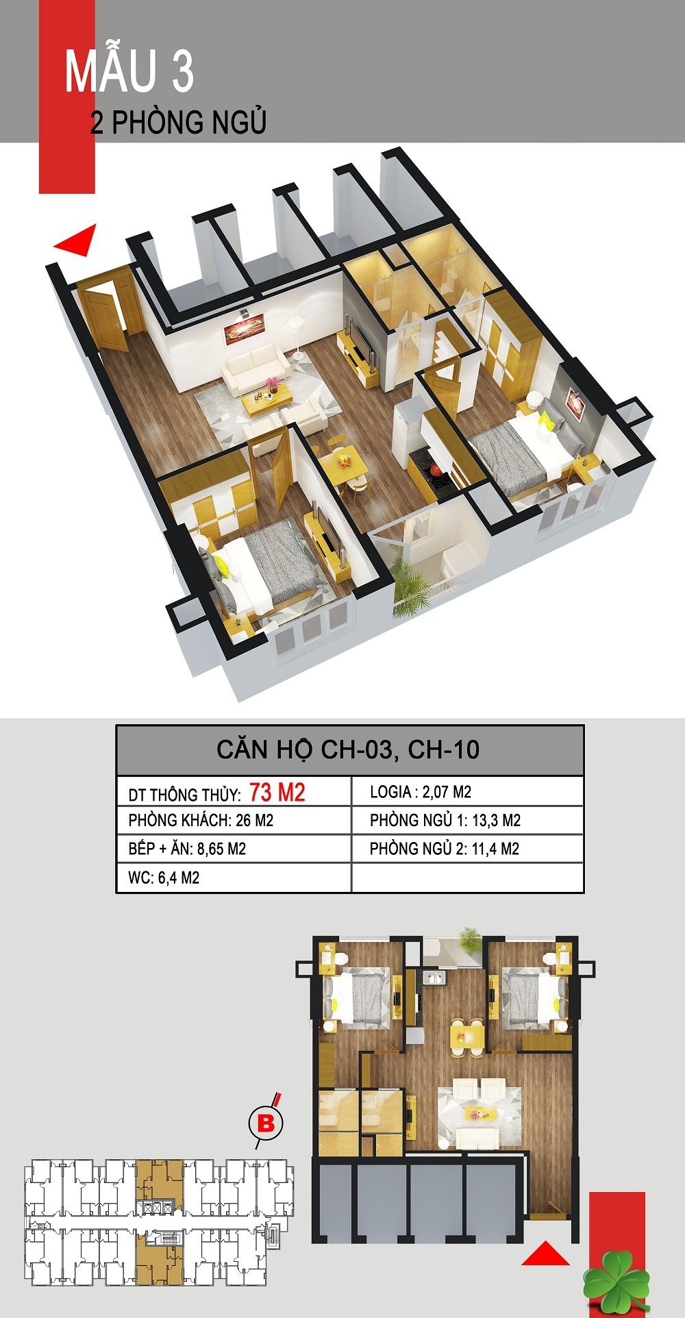 Thiết kế căn hộ CH-03,CH-10 536a minh khai
