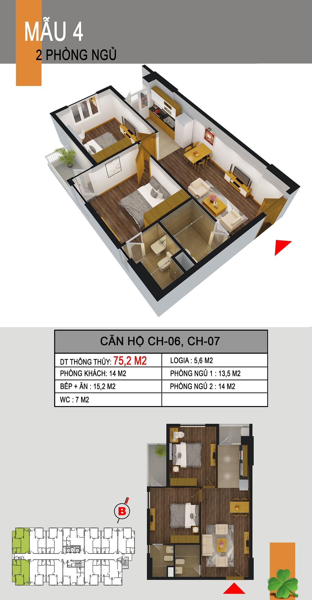 Thiết kế căn hộ CH-06,CH-07 536a minh khai