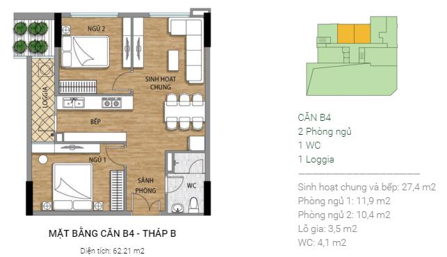 Thiết kế căn B4 tháp B